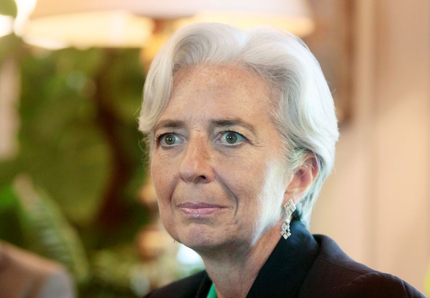 Christine Lagarde, French finance minister, is the front-runner to take the helm at the International Monetary Fund. She consolidated her lead over the weekend with Egyptian and Indonesian backing. (Associated Press)