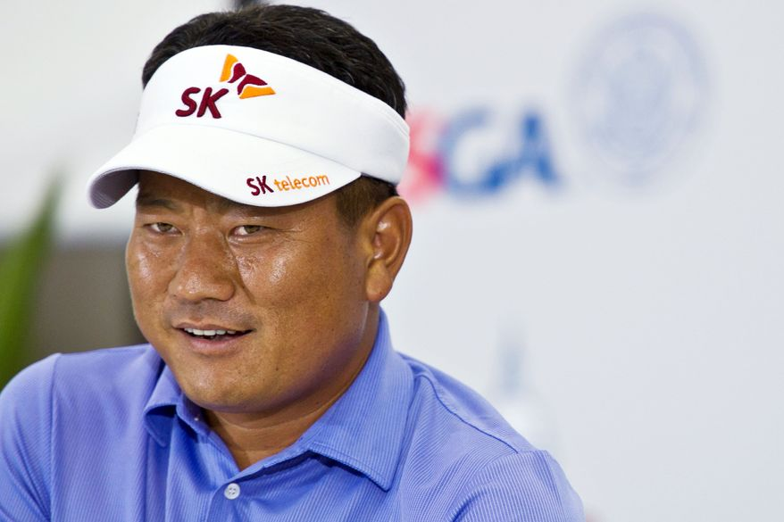 DREW ANGERER/THE WASHINGTON TIMES K.J. Choi is familiar with the layout at Congressional Country Club, having won the first AT&T National there in 2007. His best finish in the U.S. Open was a tie for 15th in 2005 at Pinehurst.