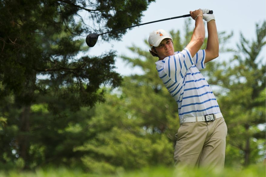 DREW ANGERER/THE WASHINGTON TIMES Peter Uihlein's father, Wally, is the chairman and CEO of Acushnet Co., which includes golf brands such as FootJoy, Pinnacle and Titleist.
