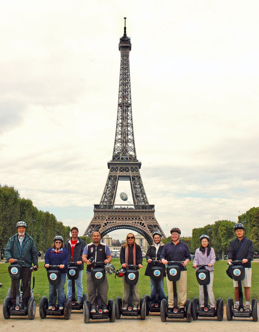"""CITY SEGWAY TOURS PARIS Segway tourism has become a popular way to see all the sights Paris has to offer, including the Eiffel Tower. """"They're just fun machines,"""" explains Graham Robinson, operations manager at City Segway Tours."""