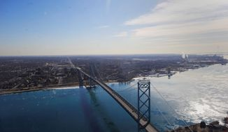 The Ambassador Bridge, a 7,500-foot suspension bridge, first linked the United States and Canada in November 1929. It is a primary route for auto suppliers and the busiest international border crossing in North America in terms of trade volume. (Detroit News)