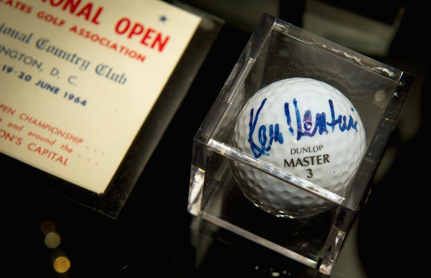 Ken Venturi, a lifetime honorary member of Congressional, donated items from his 1964 U.S. Open win to the club last month.
