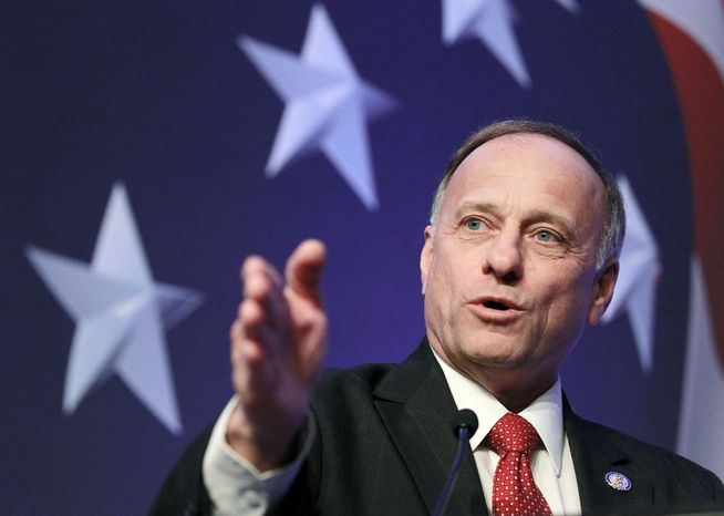 ** FILE ** Rep. Steve King, Iowa Republican. (Associated Press)