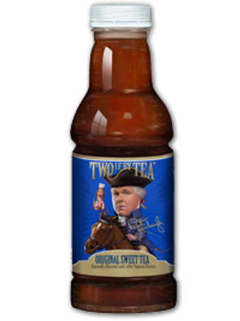 Radio host Rush Limbaugh has unveiled a new line of bottled   teas with some American colonial-inspired marketing. (Image from   Twoifbytea.com)