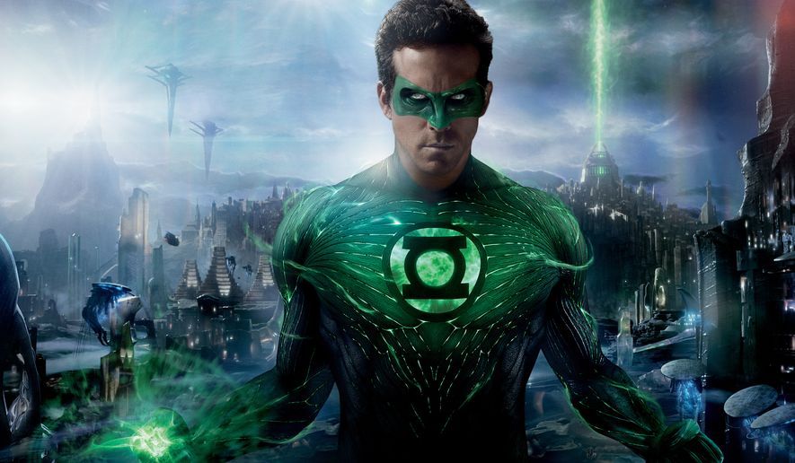 """Ryan Reynolds plays a test pilot named Hal Jordan in """"Green Lantern,"""" a character introduced by DC Comics for the first time in 1940. (Associated Press)"""