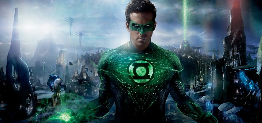 "Ryan Reynolds plays a test pilot named Hal Jordan in ""Green Lantern,"" a character introduced by DC Comics for the first time in 1940. (Associated Press)"
