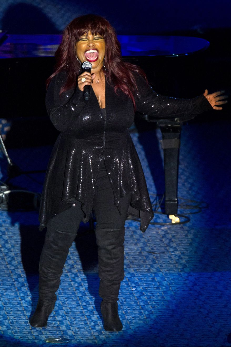 Chaka Khan performs onstage at the 42nd Annual Songwriters Hall of Fame Awards in New York, Thursday, June 16, 2011. (AP Photo/Charles Sykes)