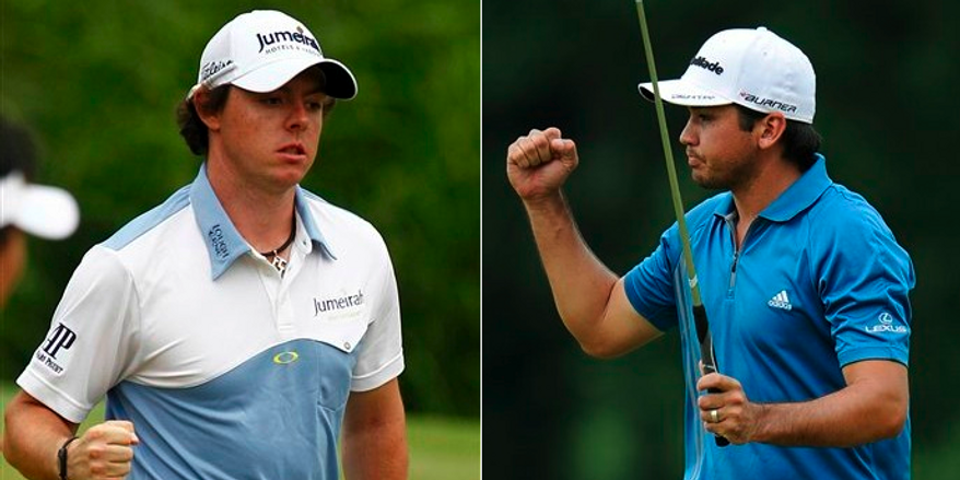 U.S. Open leader Rory McIlroy, 22, (14-under) and Jason Day, 23, (5-under) are young golfers ready to lead the youth movement in the sport. (AP Photo/Evan Vucci)/(AP Photo/Nick Wass)