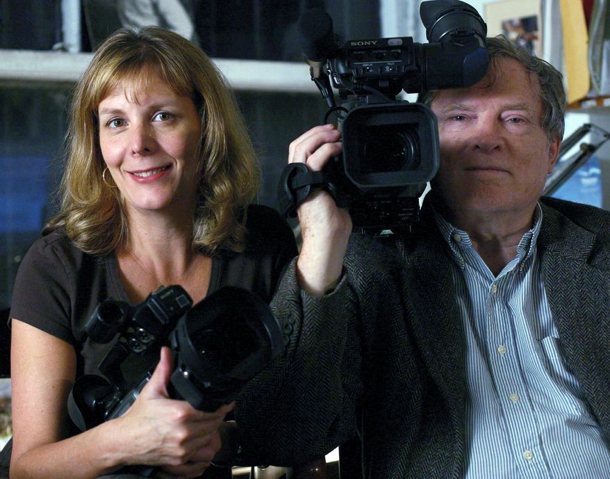 PHOTOGRAPH PROVIDED BY SILVERDOCS The husband-and-wife team Chris Hegedus and D.A. Pennebaker will be honored this year for career achievement with Silverdocs' Charles Guggenheim Symposium.