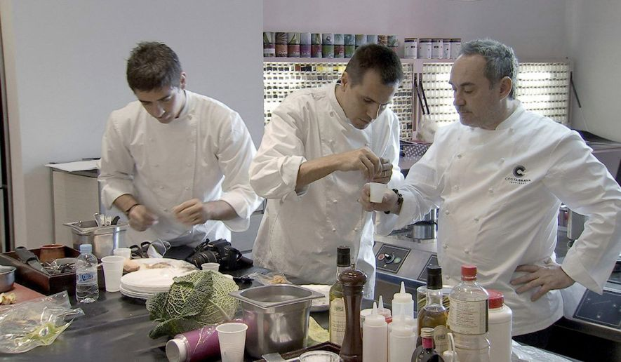 """PHOTOGRAPH PROVIDED BY SILVERDOCS """"El Bulli: Cooking in Progress"""" shows how one of the world's most famous restaurants shuts down for six months to create an entirely new menu."""
