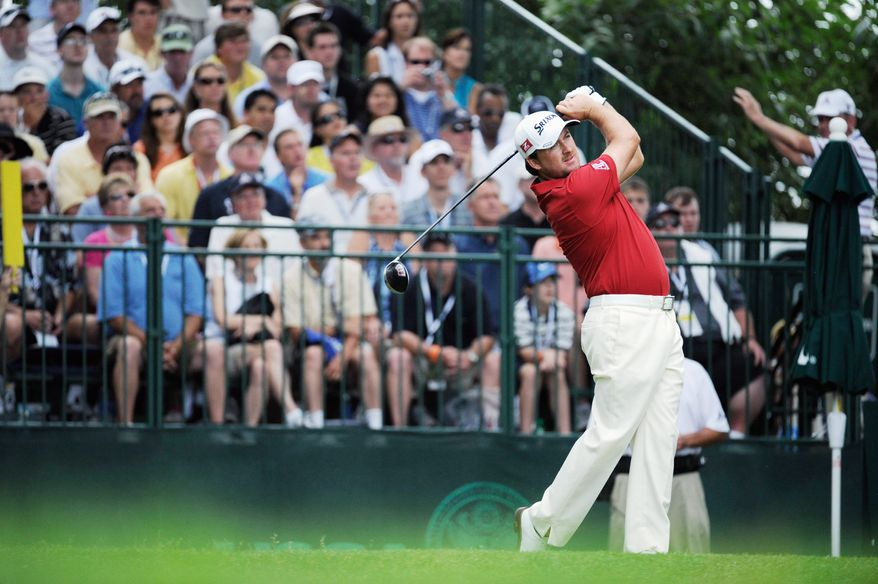 Drew Angerer/The Washington Times Graeme McDowell was unable to defend his U.S. Open title, but he did finish strong, shooting his second straight 69 and finishing at 2-under.
