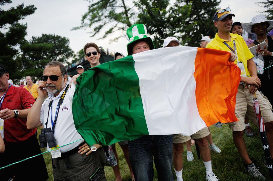 ** FILE PHOTO ** The Irish flag.