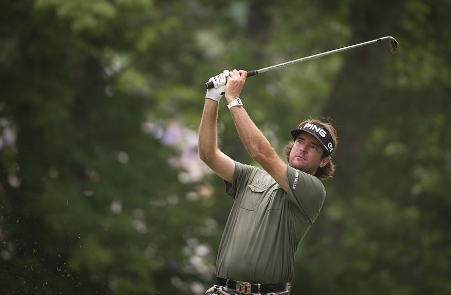 Bubba Watson tees off on the seventh hole during the championship round of the 2011 U.S. Open Congressional, in Bethesda, Md., Sunday, June 19, 2011. (Rod Lamkey Jr./The Washington Times)
