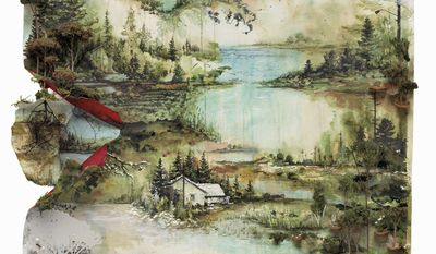 The cover art for Bon Iver's second album could be said to resemble the Wisconsin woods where his first L.P. was recorded.