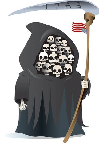 Illustration: Obamacare's IPAB by Linas Garsys for The Washington Times
