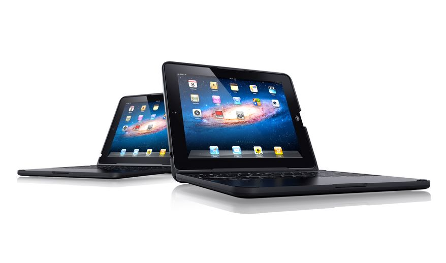 The $149 ClamCase, now available for Apple's iPad 2, sports a full-sized keyboard, the maker says.