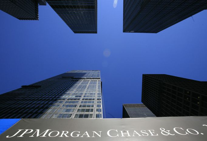 **FILE** In this photo from April 16, 2009, the headquarters for JPMorgan Chase & Co., is shown in New York. (Associated Press)