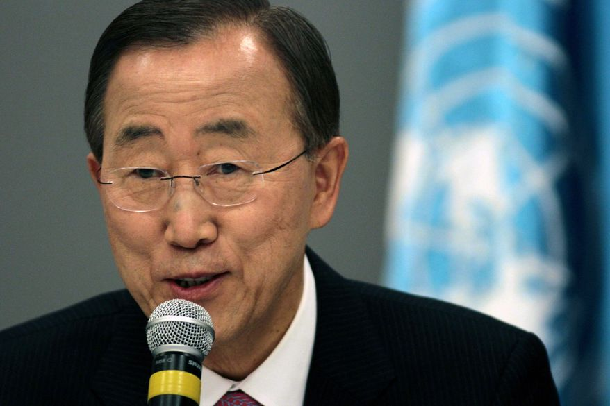U.N. Secretary-General Ban Ki-moon won a unanimous vote of confidence Tuesday from the world body's General Assembly. (Associated Press)