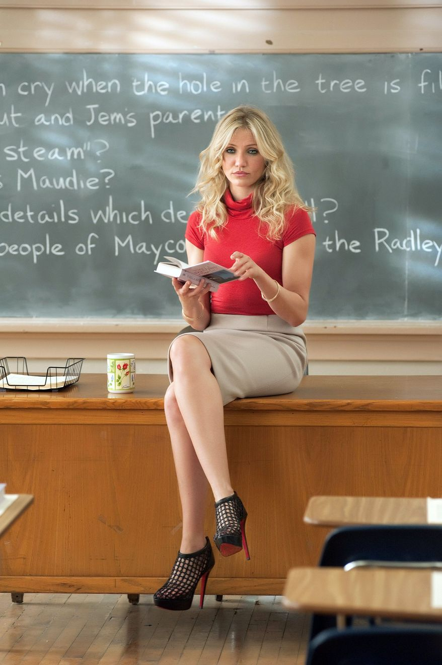 """COLUMBIA PICTURES-SONY VIA ASSOCIATED PRESS Cameron Diaz's """"Bad Teacher"""" can be pretty funny as she tries to raise money for plastic surgery, land a rich husband and escape the classroom."""