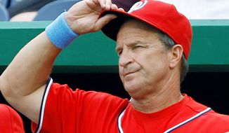 ASSOCIATED PRESS Jim Riggleman guided the Nationals to a 38-37 record, the latest in a season Washington has been above .500 since 2005.