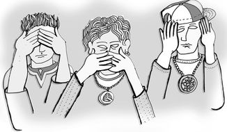 Illustration: See no evil by John Camejo for The Washington Times