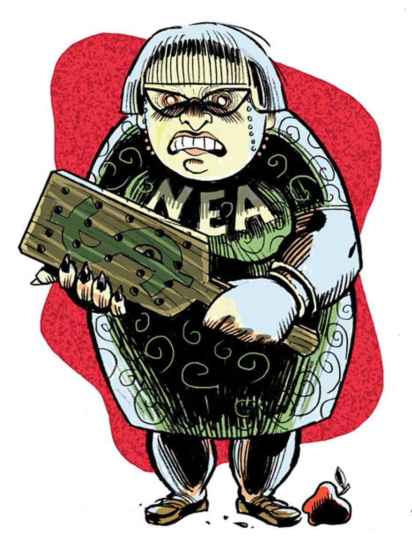 Illustration: NEA by Alexander Hunter for The Washington Times