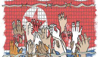 Illustration: North Korea by John Camejo for The Washington Times