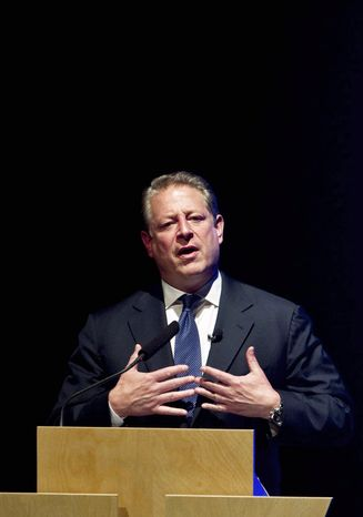 """CRITIC: Former Vice President Al Gore says President Obama has """"failed to use the bully pulpit to make the case for bold action on climate change."""" (Associated Press)"""