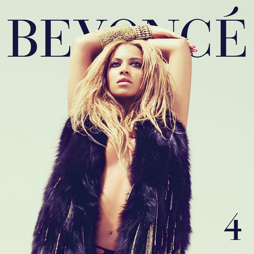 "In this CD cover image released by Columbia Records, the latest release by Beyonce, ""4,"" is shown. (AP Photo/Columbia Records)"