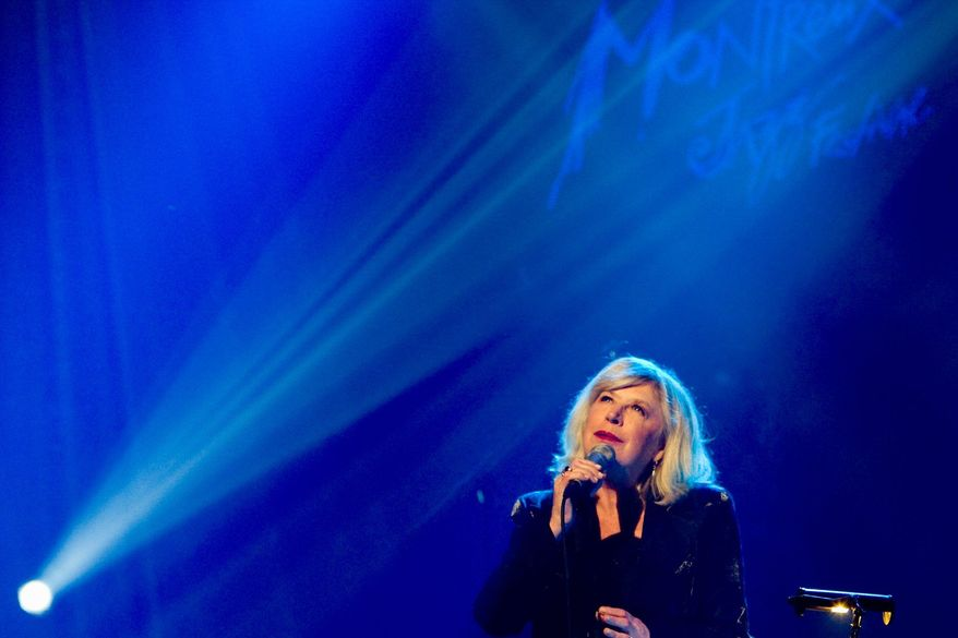 British singer and actress Marianne Faithfull performs on the Miles Davis Hall stage at the 43rd Montreux Jazz Festival, in Montreux, Switzerland, Late Monday, July 13, 2009. (AP Photo/Keystone, Jean-Christophe Bott)