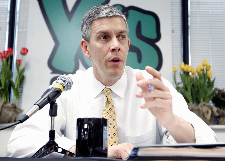 Secretary of Education Arne Duncan on Monday contended the Dream Act would reduce the federal deficit by $1.4 billion over the next decade by allowing more illegal immigrants to stay in the country and pay taxes. (Associated Press0
