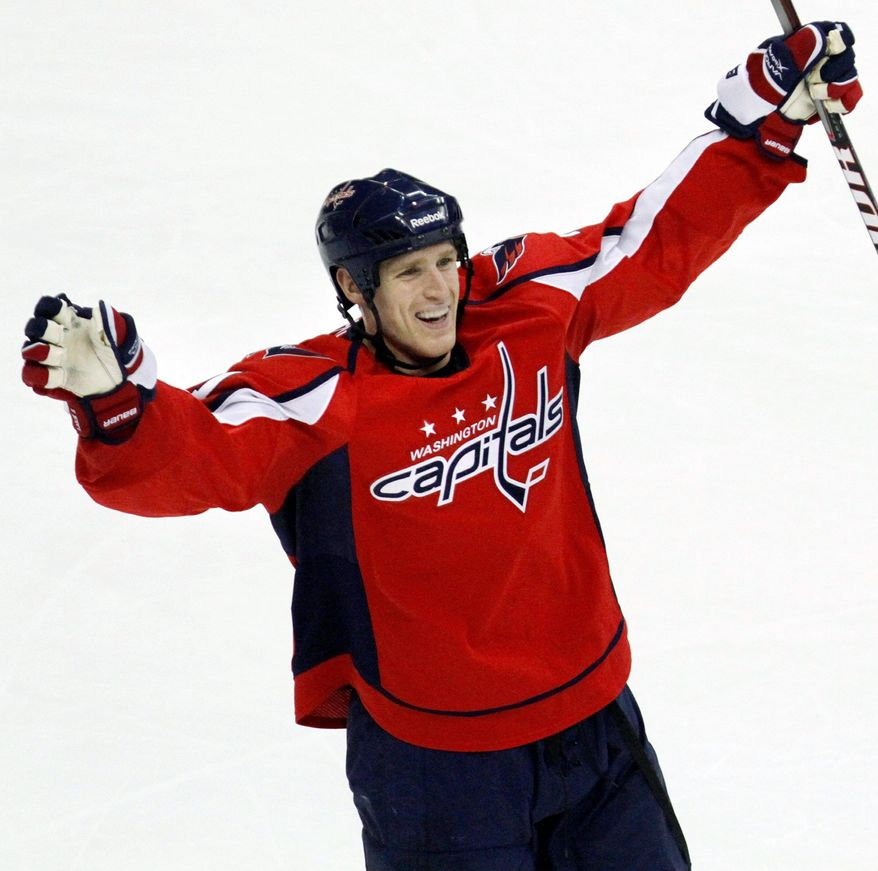 ASSOCIATED PRESS Capitals forward Brooks Laich signed to a six-year deal worth $27 million. Left Alex Ovechkin (2021) and center Nicklas Backstrom already are locked up with long-term contracts.