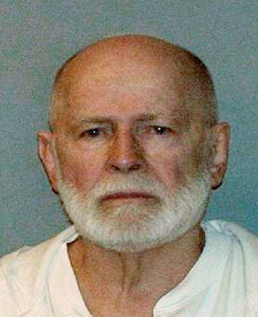 "** FILE ** This June 23, 2011, booking photo provided by the U.S. Marshals Service shows James ""Whitey"" Bulger, one of the FBI's Ten Most Wanted fugitives, captured in Santa Monica, Calif., after 16 years on the run. (AP Photo/ U.S. Marshals Service, File)"