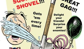 Illustration: Shovel ready by Alexander Hunter for The Washington Times