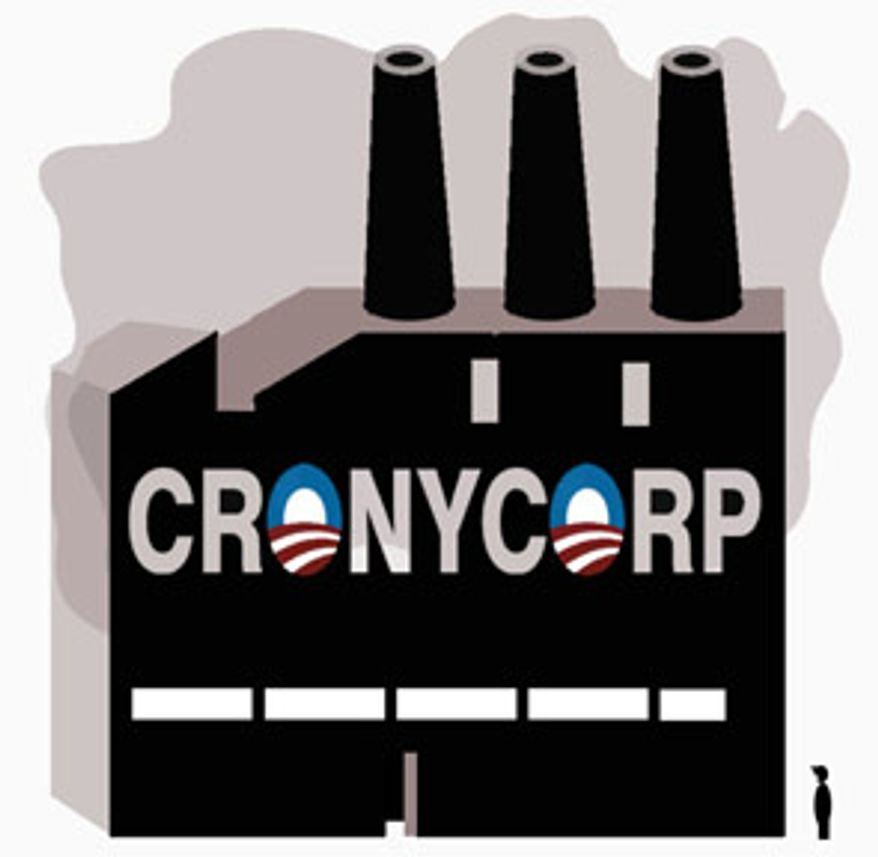 Illustration: Crony Corp. by Alexander Hunter for The Washington Times