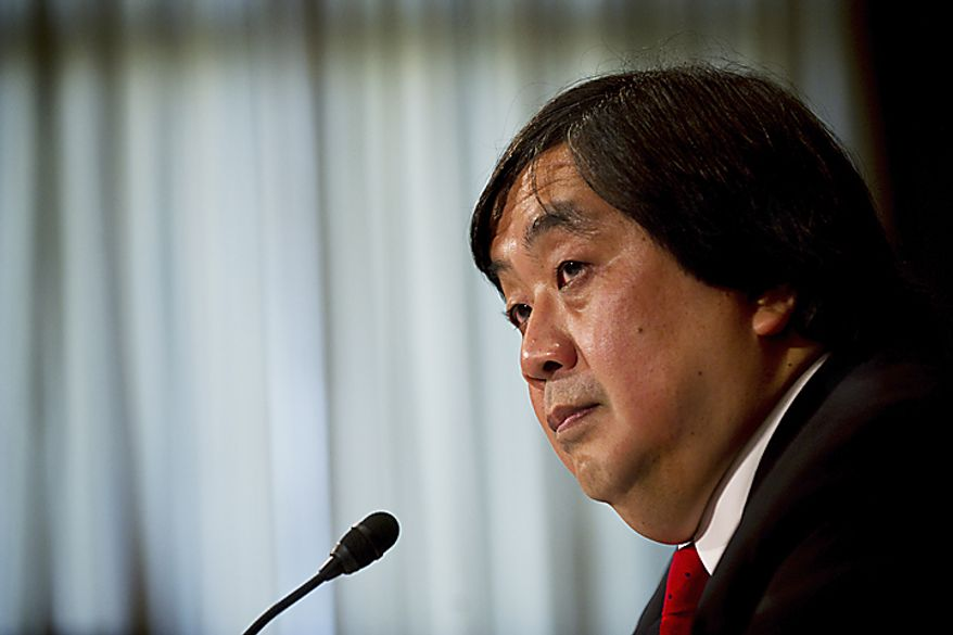 Harold Koh, a State Department lawyer, testifies during a Senate Foreign Relations Committee hearing on Libya and the War Powers Resolution on Capitol Hill in Washington on Tuesday, June 28, 2011. (Drew Angerer/The Washington Times)