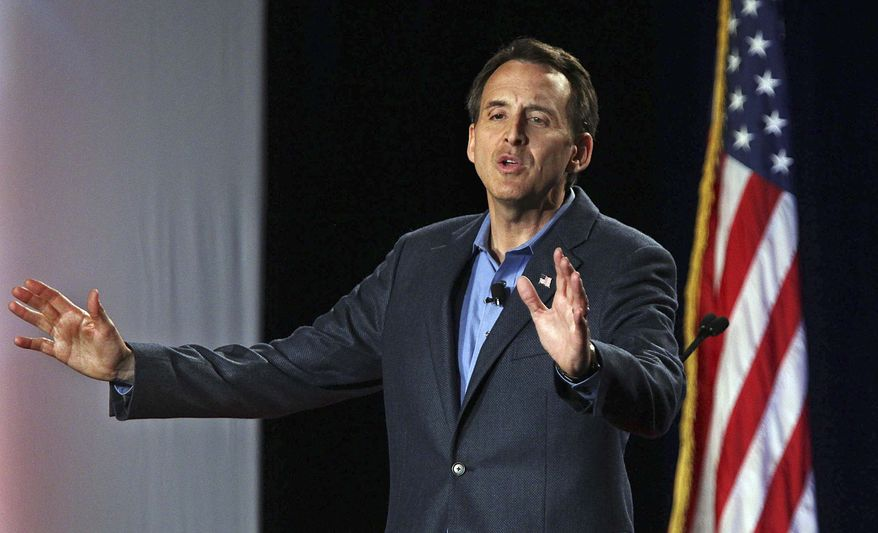 **FILE** Republican presidential hopeful and former Minnesota Gov. Tim Pawlenty speaks at the AFP RightOnline Conference in Minneapolis on June 18, 2011. (Associated Press/The Star Tribune)