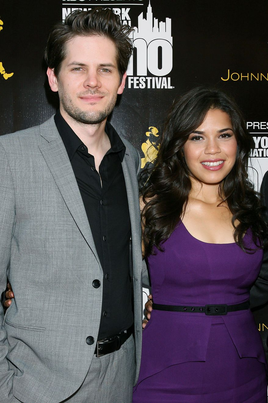 """FILE - In this July 27, 2010 file photo provided by StarPix, actress America Ferrera and her fiance director Ryan Piers Williams arrive at the 2010 New York International Latino Film Festival opening film """"Day Land."""" Ferrera's representative confirmed Tuesday, June 28, 2011 that Ferrera and Williams wed Monday. (AP Photo/Dave Allocca, StarPix, file)"""