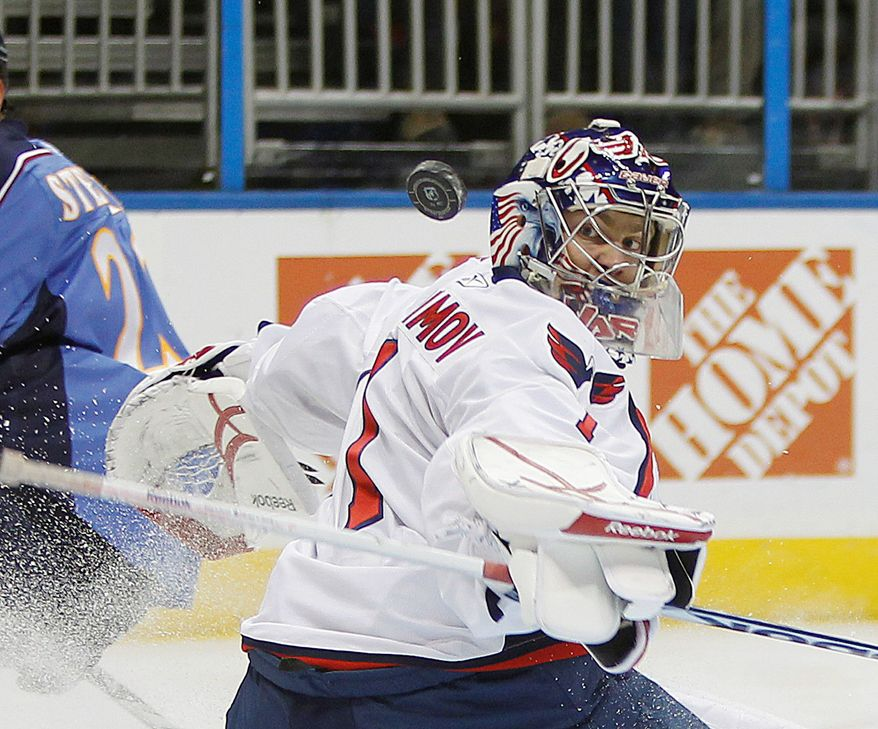 Washington Capitals goalie Semyon Varlamov won 30 games for the Capitals with a 2.39 goals against average in 59 appearances since the start of the 2008-09 season.. (AP Photo/John Bazemore)