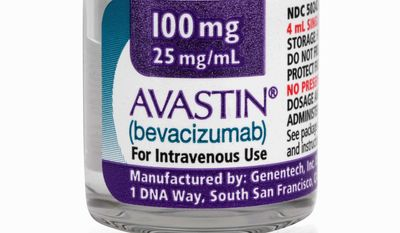 California-based Genentech, Inc., makes the cancer drug Avastin. A new analysis raises fresh questions about the effectiveness and risks of Avastin. (Associated Press)