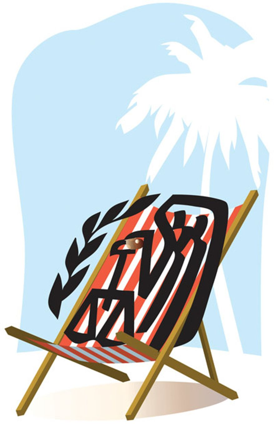 Illustration: IRS vacation by Linas Garsys for The Washington Times