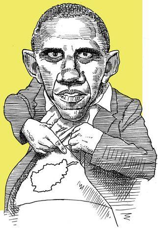 Illustration: Obamastan (after Levine) by Alexander Hunter for The Washington Times
