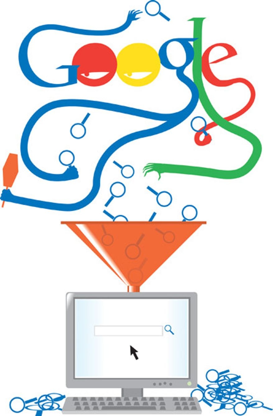 Illustration: Google search by Linas Garsys for The Washington Times