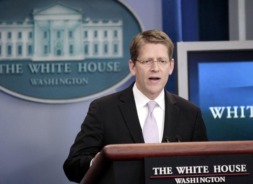 White House Press Secretary Jay Carney speaks during his daily news briefing at the White House on June 30, 2011. (Associated Press)
