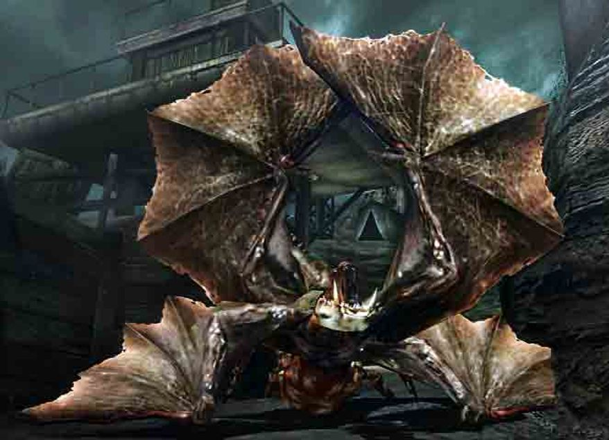 A creature I would rather not face in the portable video game Resident Evil: The Mercenaries 3D.