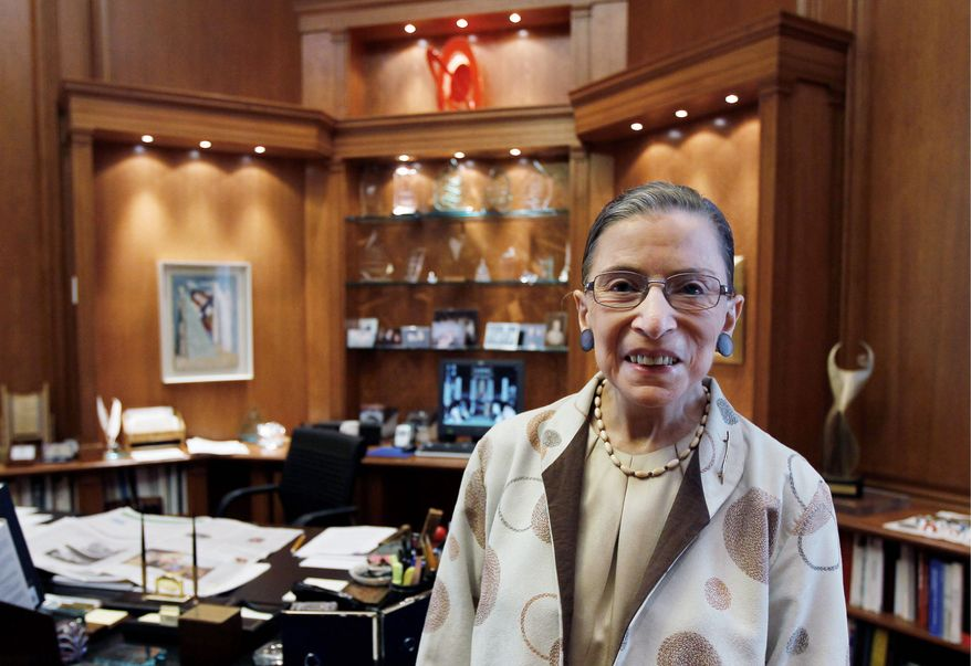 Supreme Court Justice Ruth Bader Ginsburg has said that the president should not expect a retirement letter from her before 2015. (Associated Press)