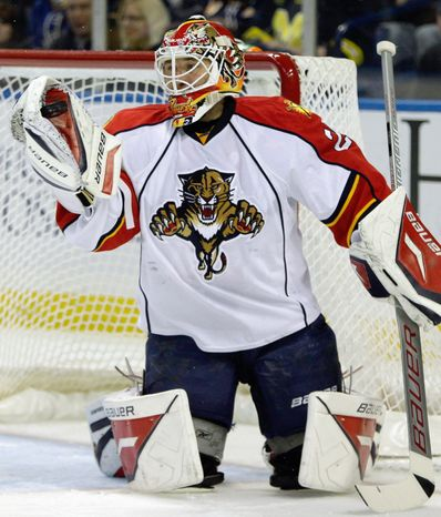ASSOCIATED PRESS New Washington goaltender Tomas Vokoun went 22-28-5 with a 2.55 goals-against average and .922 save percentage for Florida last season. Eyeing a Stanley Cup run, Vokoun accepted a modest one-year, $1.5-million contract with the Capitals.