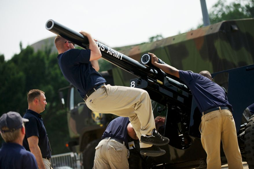 """The cannon will be fired during Tchaikovsky's """"1812 Overture"""" at the close of the """"A Capitol Fourth 2011"""" concert on Monday, July 4, 2011.  (Drew Angerer/The Washington Times)"""