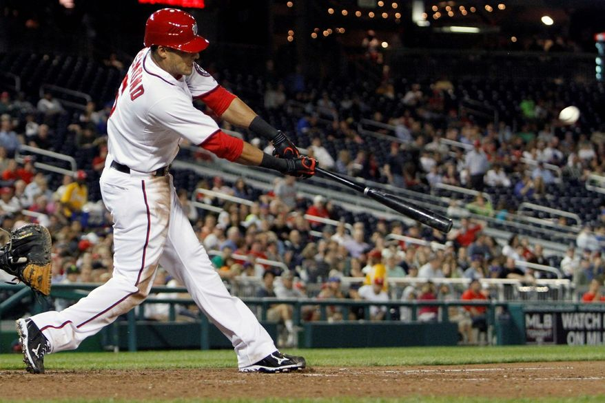 Nationals shortstop Ian Desmond entered Tuesday night's home game against the Chicago Cubs batting .217 with three home runs and 22 RBI. (Associated Press)