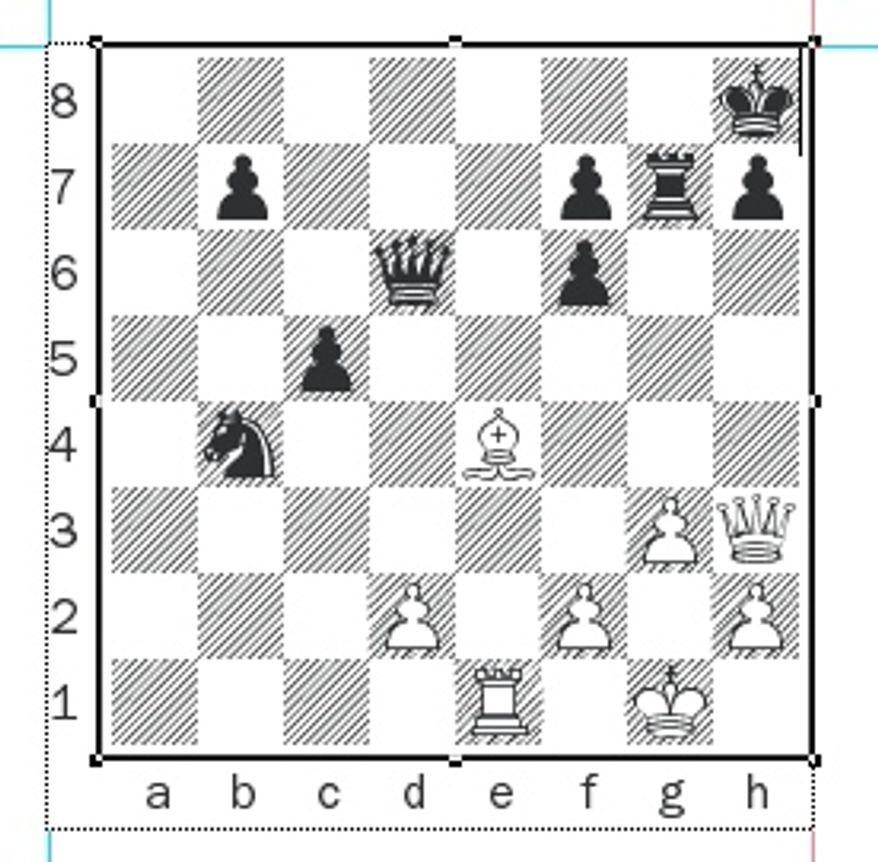 Galkin-Alekseev after 26...Rg7.
